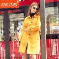 2016 Fashion Women Trench Coats  Winter and Autumn Casual Windbreaker Lady coat Slim Outerwear Long Overcoat F160