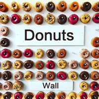 Acrylic Clear Donut Wall No Stand Support Party Decoration