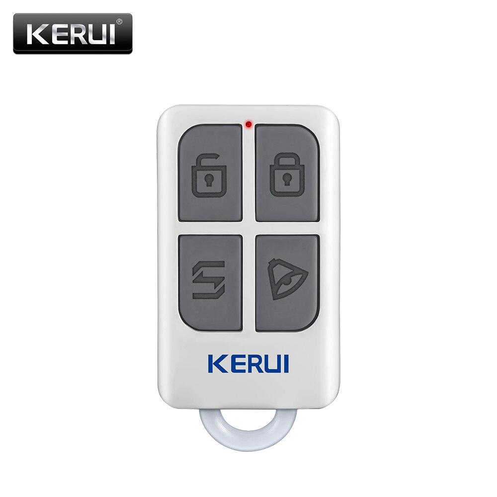 KERUI inalámbrico de alto rendimiento portátil Control remoto 4 botones llavero para WIFI GSM PSTN sistema de alarma de seguridad de hogar