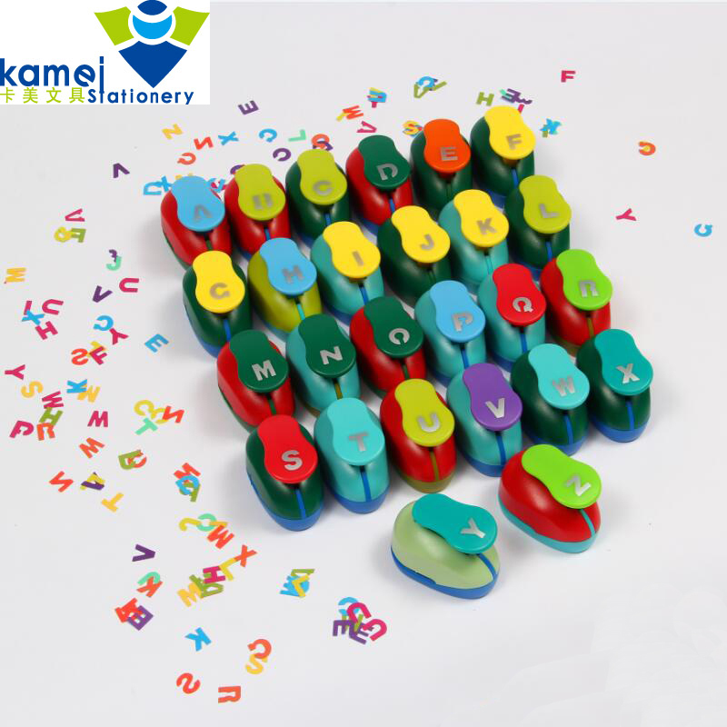 26pcs 1 2cm English letters design Scrapbooking Tool Mini Paper Punch For DIY Gift Card Punches