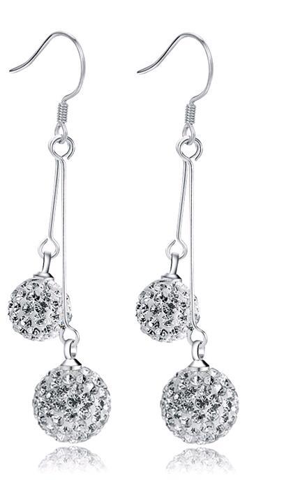 Diamantes CZ Pendientes Joyas Para la Mujer 925 Joyería de Plata Esterlina Oído