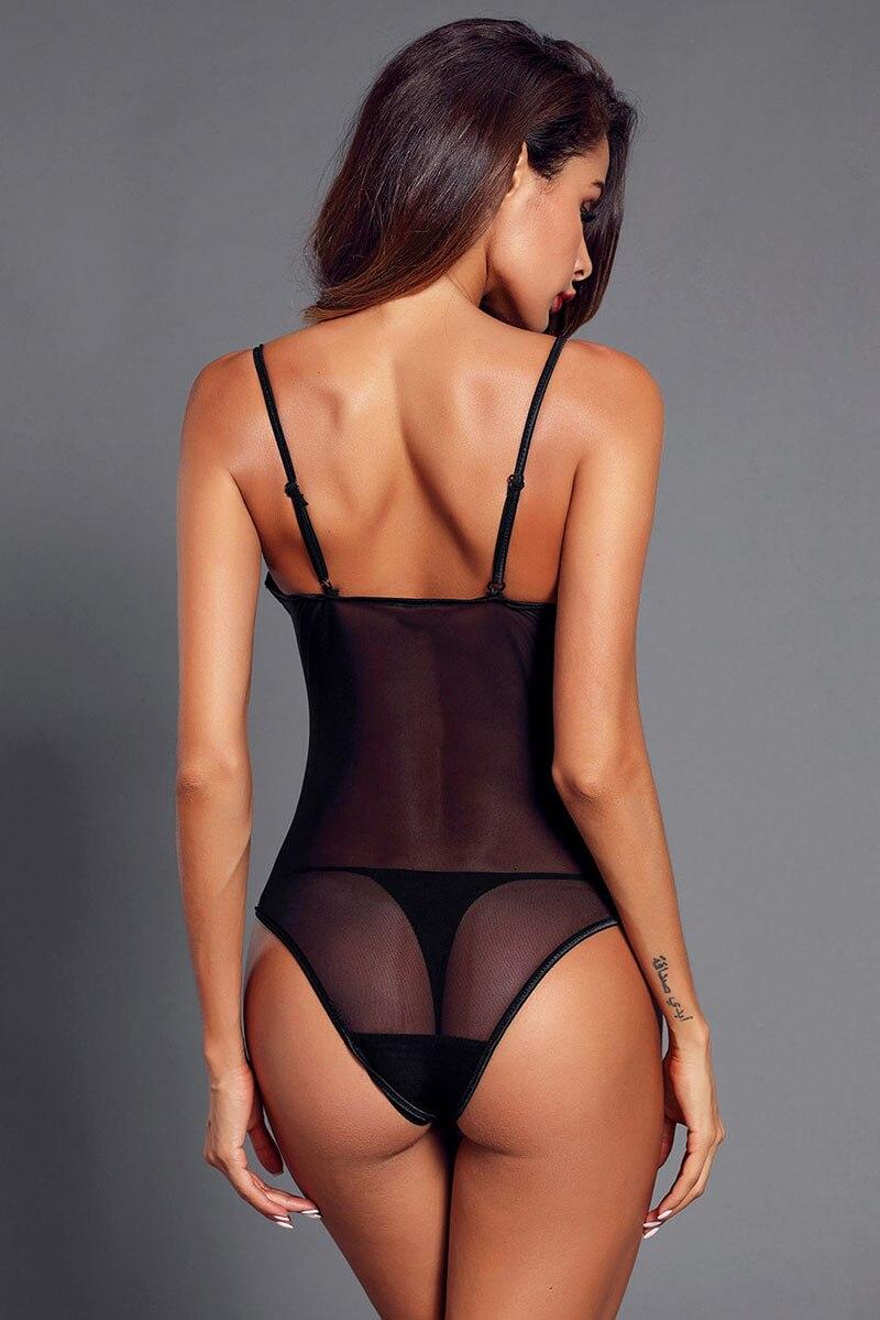Black-Lace-Mesh-Bodysuit-Push-up-Teddy-Lingerie-LC32231-2-9
