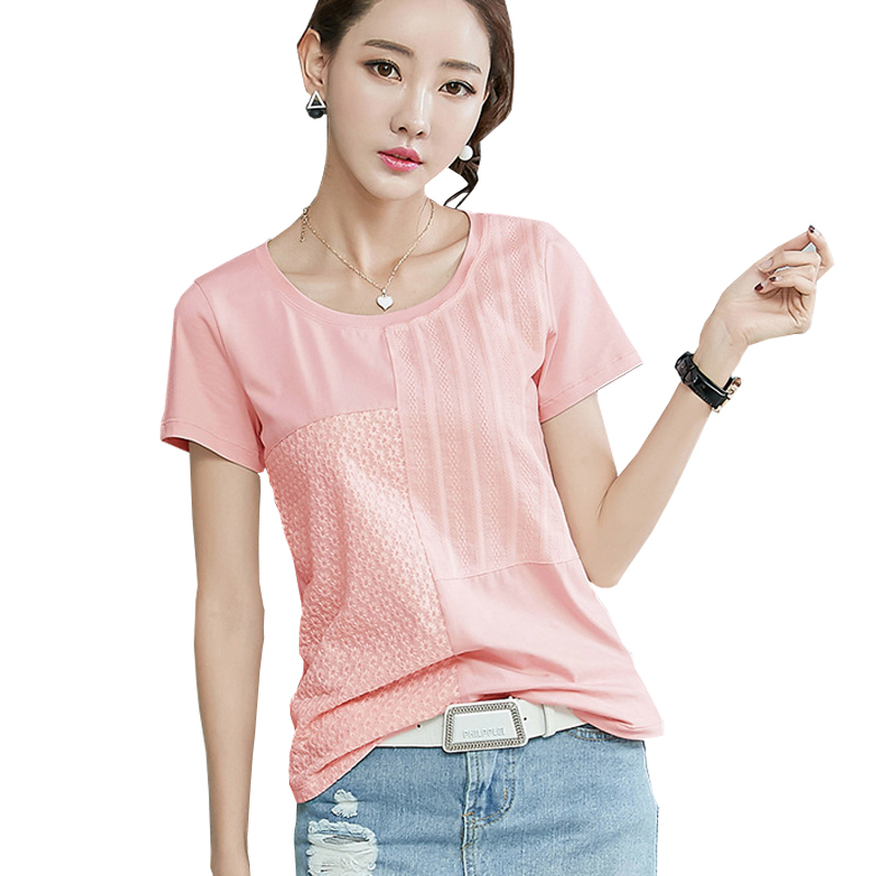 Chemisier Femme Summer 2017 Ladies Tops Floral Cotton Women Blouses Shirt Womens Clothing Short Sleeves Korean Clothes S5040