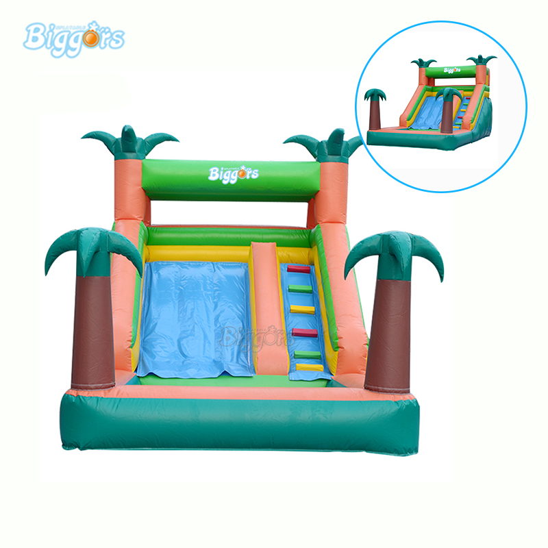 Inflatable Tropical Water Slide With Pool Inflatable Water Slide Pool With Blowers backyard inflatable water slide pool jeu gonflable inflatable water slide for sale with blowers