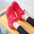 2016 women casual shoes black red soft bottom outdoor shoes trainers breathable mesh walking shoes calzature sportive XK102412