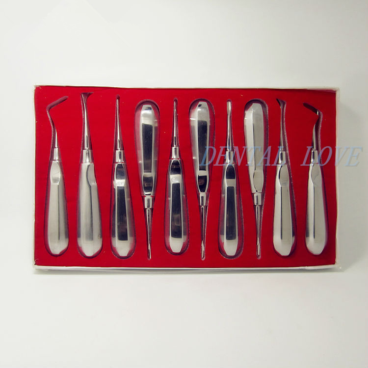 10 pcs kit dental lab dentistry dentist dental detista equipment for teeth whitening clareador curved ROOT