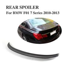 Carbon Fiber Rear Boot Lip Spoiler Wing For BMW 7 Series F01 2010-2013 A Style Trunk Trim Sticker Custom Spoiler
