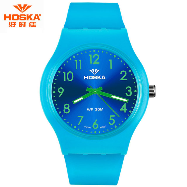 Children Sports Quartz-watch Japan Imported Quartz Movements Outdoor Colorful Band Waterproof Watch for Children deporte H801