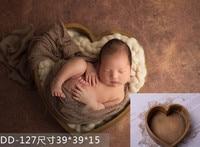 Newborn photography props super cute heart shaped wooden barrel baby birthday full moon photography studio props