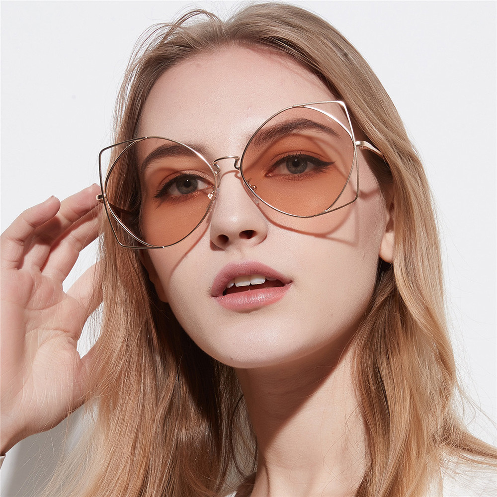 Mens Womens Irregular Metal Frame Retro Vintage Sunglasses Eyeglasses gafas oculos des lunettes #15
