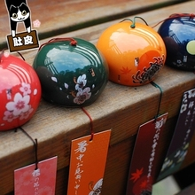Japanese cherry blossoms and wind ceramic chimes doors windows ornaments birthday gifts creative girls