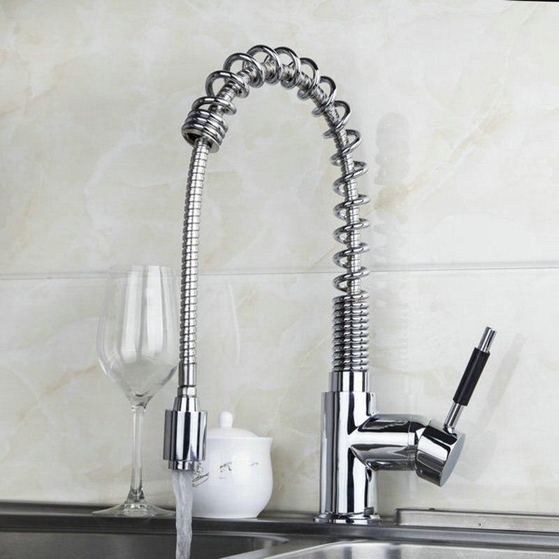 Swivel Pull kitchen bathroom sink basin mixer tap Chrome JN8547