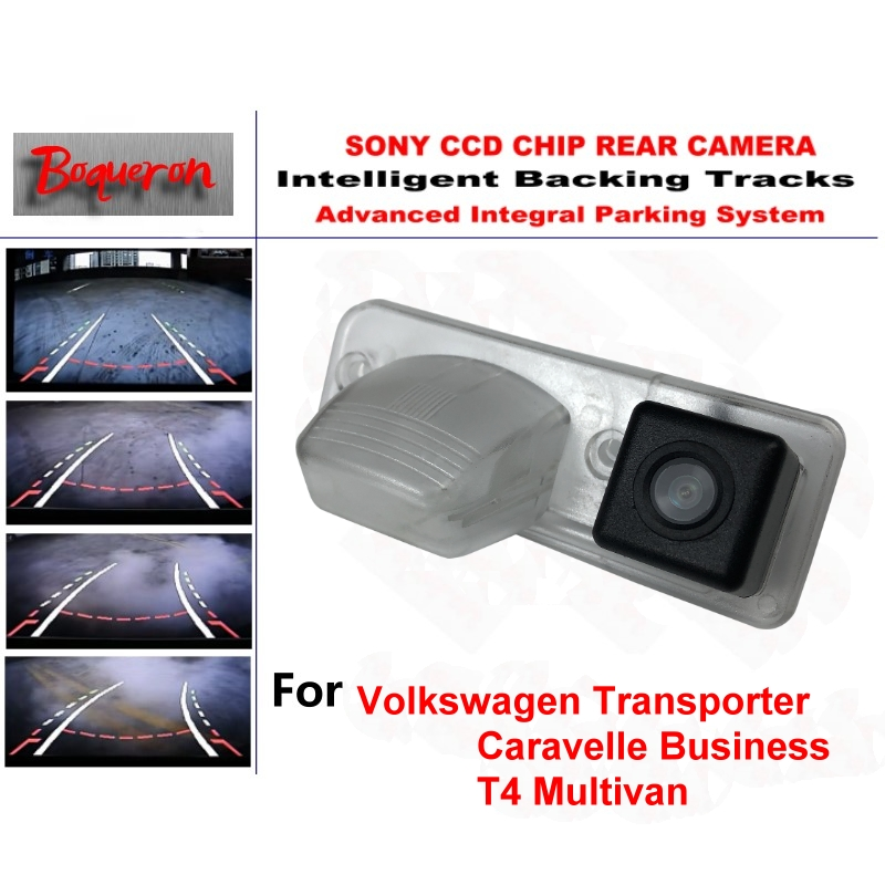 For Volkswagen VW T4 Multivan Transporter Caravelle Business CCD Intelligent Tracks Dynamic Guidance Car Backup Rear View Camera цена