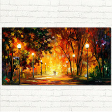 Away From The Sun  PALETTE KNIFE Landscape Oil Painting On Canvas modern home wall decoration art