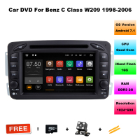 7 Inch HD Screen Android 7 1 1 CAR DVD Player FOR MERCEDES BENZ CLK W209