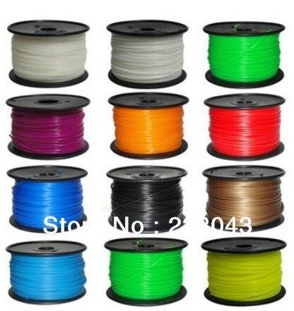 Abs Filament Wit 1.75mm 3.0mm (geel, Groen, Oranje, Roze, Rood, Blauw, Goud) Shrink-Proof