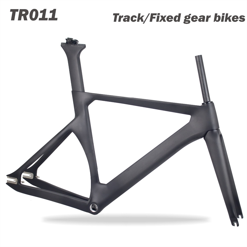 Miracle Bikes 2018 Carbon Track Bike Frame Bicicletas Fixed Gear Track Bicycle Frame 48/51/54/57cm BSA/BB30/PF30 UD Matte