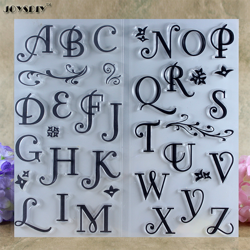 Classic Big Size Alphabet Scrapbook DIY photo cards account rubber stamp clear stamp transparent stamp card DIY stamp 11*16cm scrapbook diy photo cards account rubber stamp clear stamp finished transparent chapter wall decoration 15 18