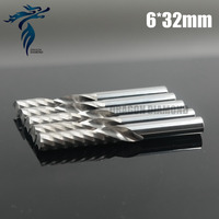 5pcs 6 32MM Single Flute Spiral Drill Bits Carbide Cutters CNC Engraving Tools End Milling On