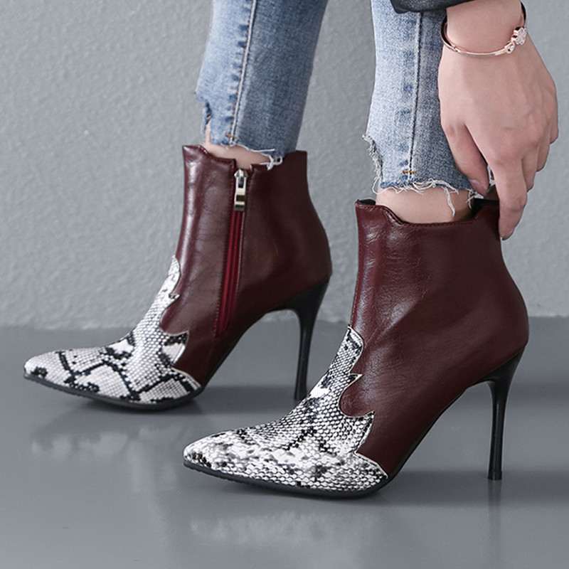 ee35c88e440 US $41.32 20% OFF|34 43 Extreme High Heel Women Winter Boots Heel 10 CM  Ankle Boots For Women Big Size Women Winter Shoes -in Ankle Boots from  Shoes ...