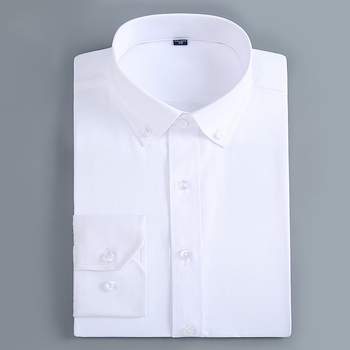 Men's Casual Slim Fit Button Down Dress Shirt Long Sleeve Solid Business Twill Top Formal Simple Basic Design Work Office Shirts Dress Shirts