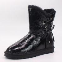 Winter New 100 Natural Australian Sheepskin Fur Snow Boots Women Boots Fashion Non Slip In The