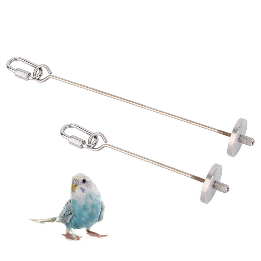 New Budgie Bird Toy Skewer Fruit Spear Hanging Holder Pet Parrot 2 Sizes Parakeet Budgie Small Animal Stainless Steel