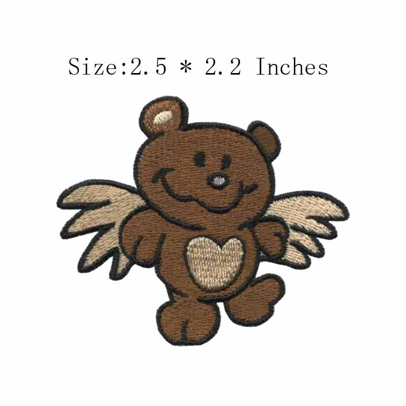 2.5wide Happy smiling bear embroidery patch costurar apliques/costura/lithuania ...