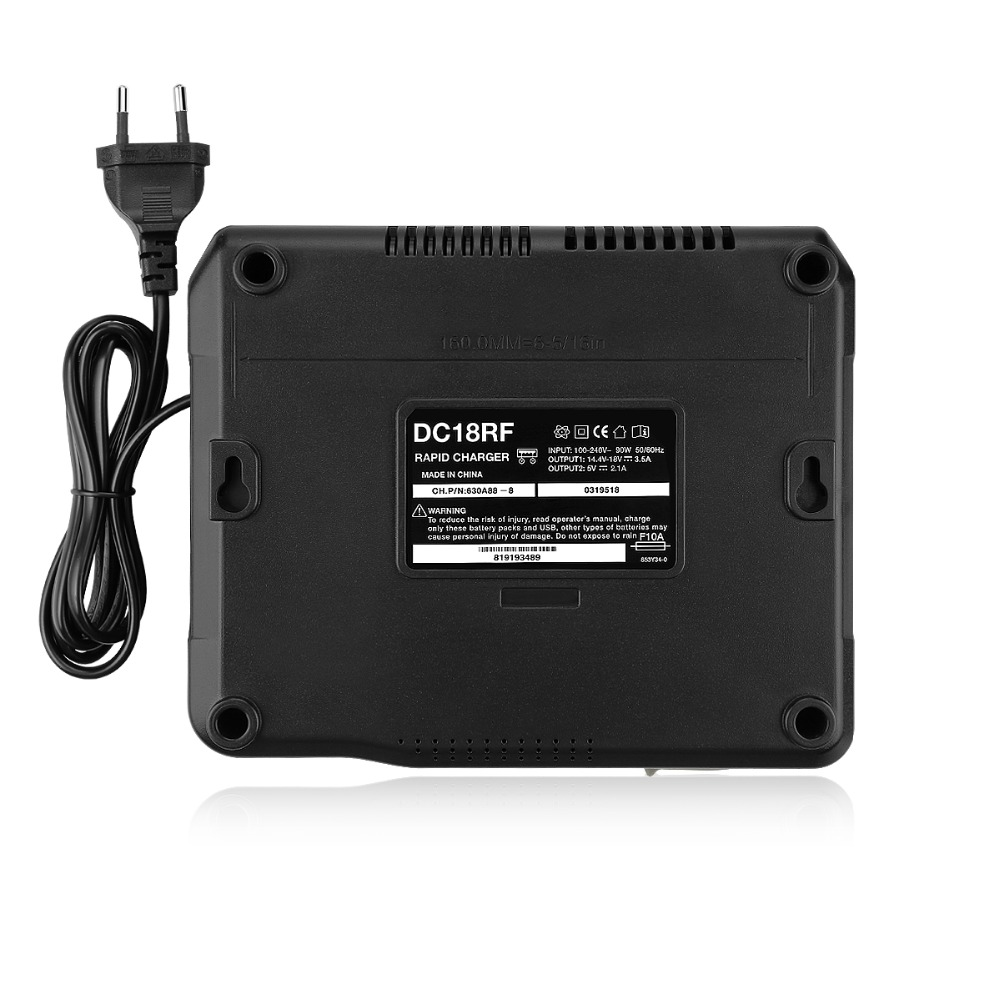 lowest price 14 4V-18V 3 5A 3 0A Fast Battery Charger For Makita BL1415 14201830184018501860 Power Tool with display screen and USB port