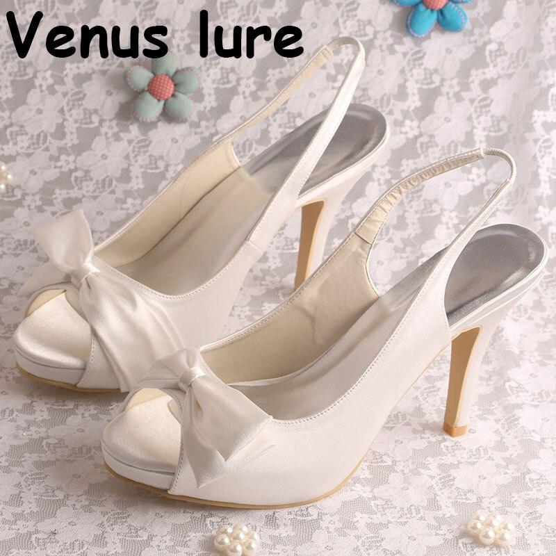 Detail Feedback Questions about Open Toe High Heel Platform Pumps Ivory  Satin Wedding Bridal Shoes in Summer on Aliexpress.com  5de5e48d1b72