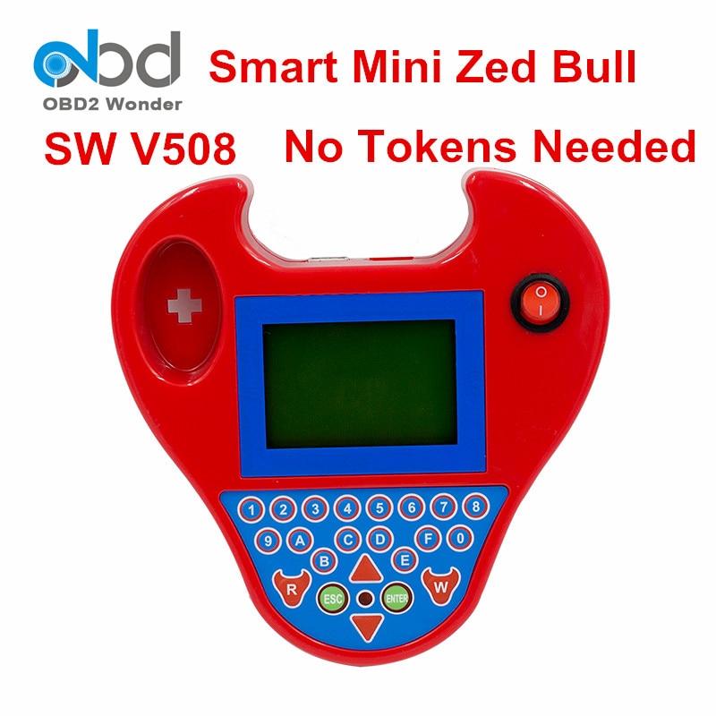 Prix pour Les Mieux Notés Smart Mini Zed Bull Programmeur principal Zed-bull Logiciel V508 Clé De Voiture Transpondeur Mini Zedbull Key Maker Pas Besoin jetons
