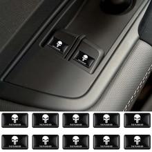 все цены на 10pc The Punisher Skull Reflective Personalized Car Stickers Motorcycle Decals for Volkswagen BMW Audi Suzuki Honda Hyundai Lada онлайн