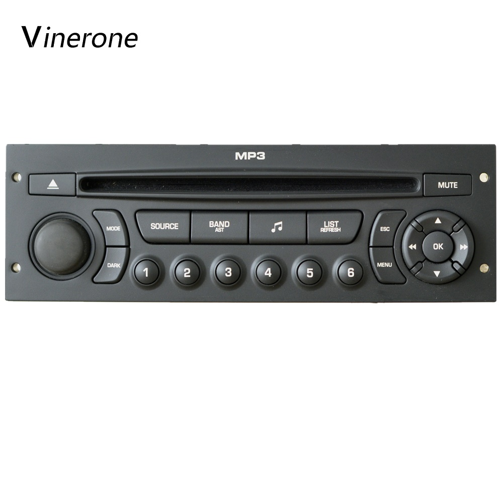 Genuine RD43 Car Radio CD Player USB AUX Suitable 207 206 307 308 807 C2 C3 C4 C5 C8 Auto Audio instead of RD4
