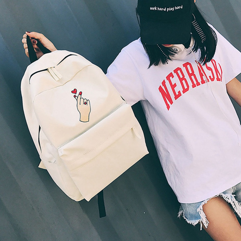 New Style Backpack Women Canvas Rose Flower Embroidery Student Teenage Girls School Backpack Travel Bag Black Rucksack Mochila