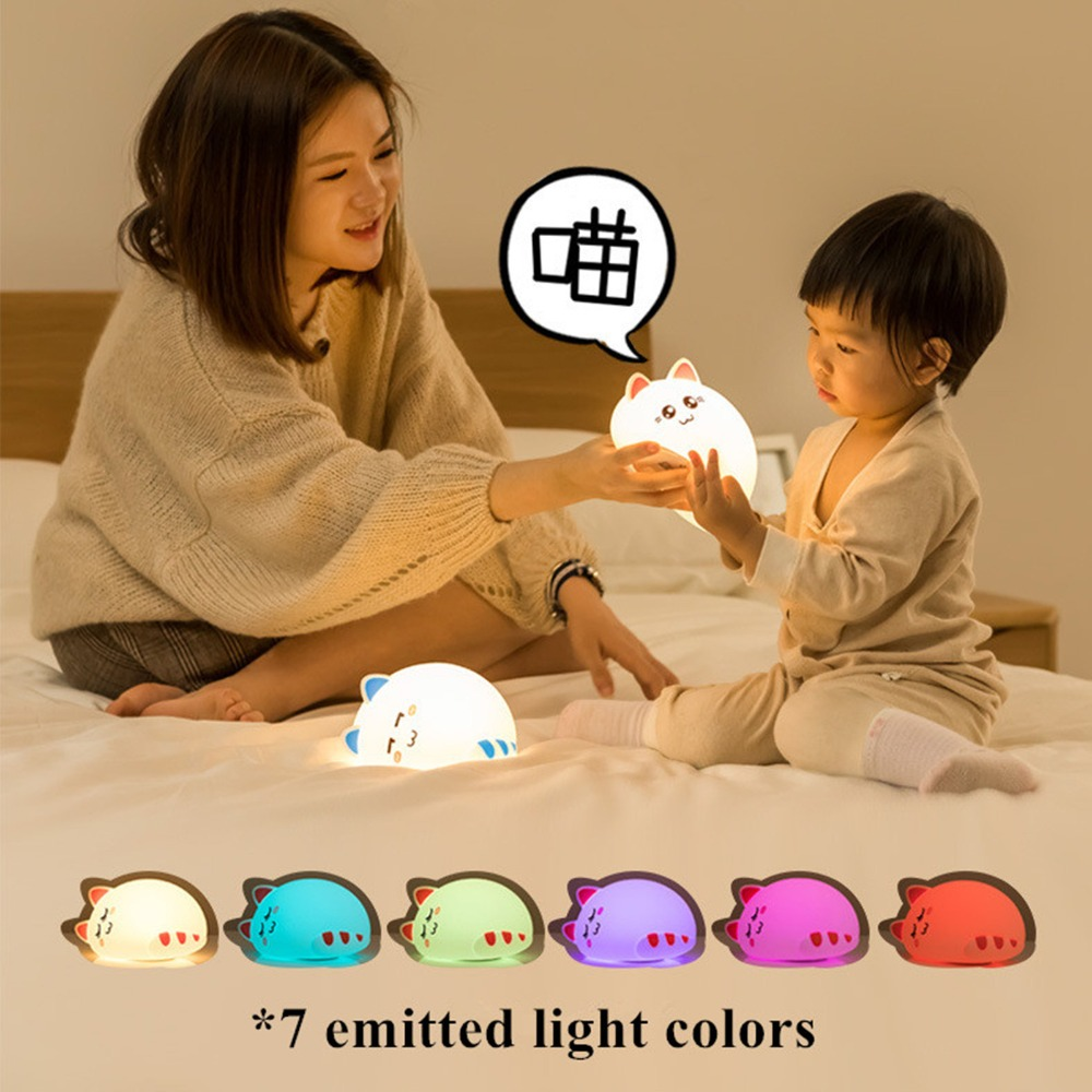 Led Night Lamp With Multiple Light Colors Onefire Charging