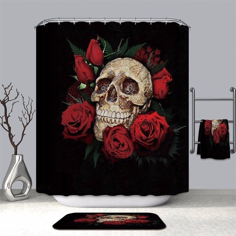 Image 3 - VOZRO bathroom shower curtain waterproof polyester 2 m cloth 3D Halloween bape douchegordijn pascoa duschvorhang farmhouse bath-in Shower Curtains from Home & Garden