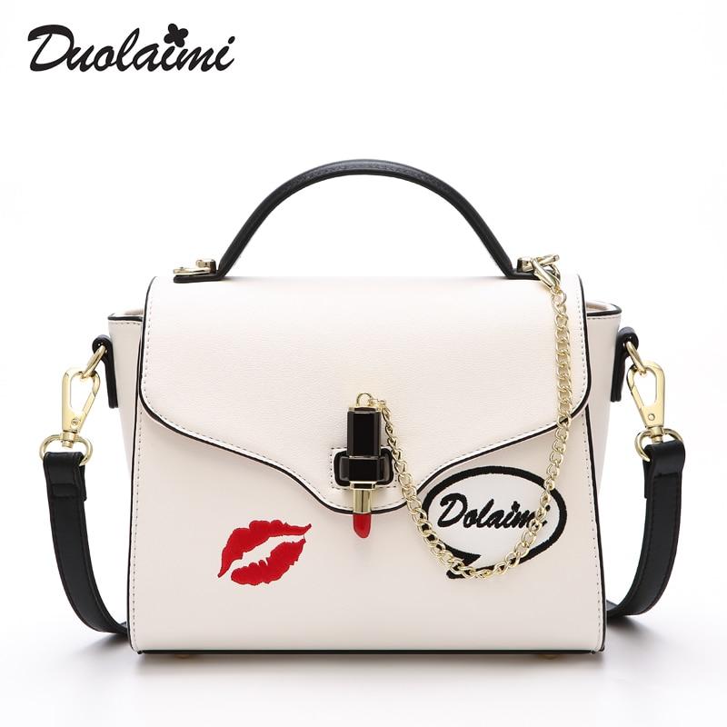 duolaimi brand red lip seal chains lipstick decoration handbag hotsale laides purse women evening clutch messenger shoulder bags фен elchim 8th sense red lipstick 03082 07