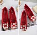 Senhoras Sapatos Escorregar No Outono de ouro Das Mulheres Sapatos Baixos de Couro Genuíno Sapatos Mulheres Bailarina Apartamentos Novos 2016 Sapatilhas Femininas