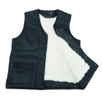 Genuine Sheepskin Vest Sheepskin And Wool Waistcoat Fur Vest Fur Vest Wool Vest A Man Middle