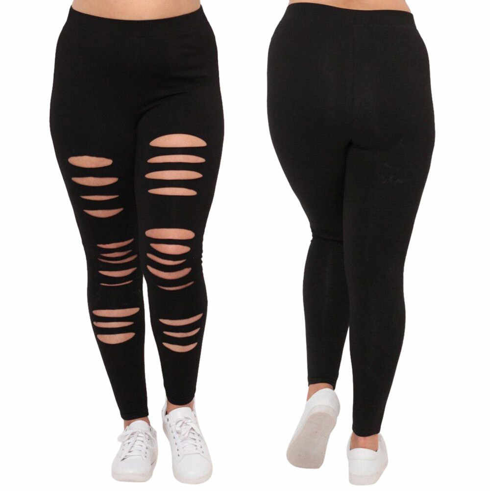 Women pants High Waist Hollow out Pants Plus Size Trousers Women Legging Rip Sweatpants Sexy Fashion Casual Summer trousers #606
