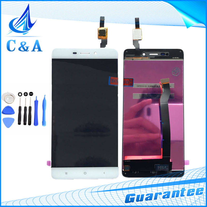 ФОТО 100% Tested For Xiaomi Redmi 4 LCD Display with Touch Screen Digitizer Assembly 5.0 inch Replacement + Open Tools Free shipping