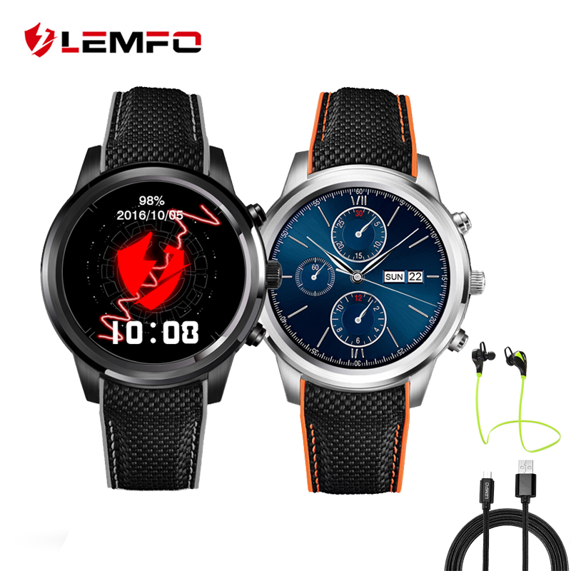 LEMFO LEM5 Smart Watch Phone Android 5 1 OS MTK6850 1GB 8GB Reloj Inteligente Support GPS