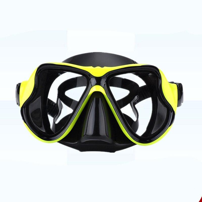 Qualité silicone masques de natation masque de plongée masque de plongée myopie masques de plongée professionnel personnalisé yeux gauche et droit degrés