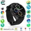 """KW88 Smart Wrist Watch Android 5.1 MTK6580 Quad Core 1.39"""" 400*400 screen with 2.0MP camera 3G wifi Google map Smartwatch"""