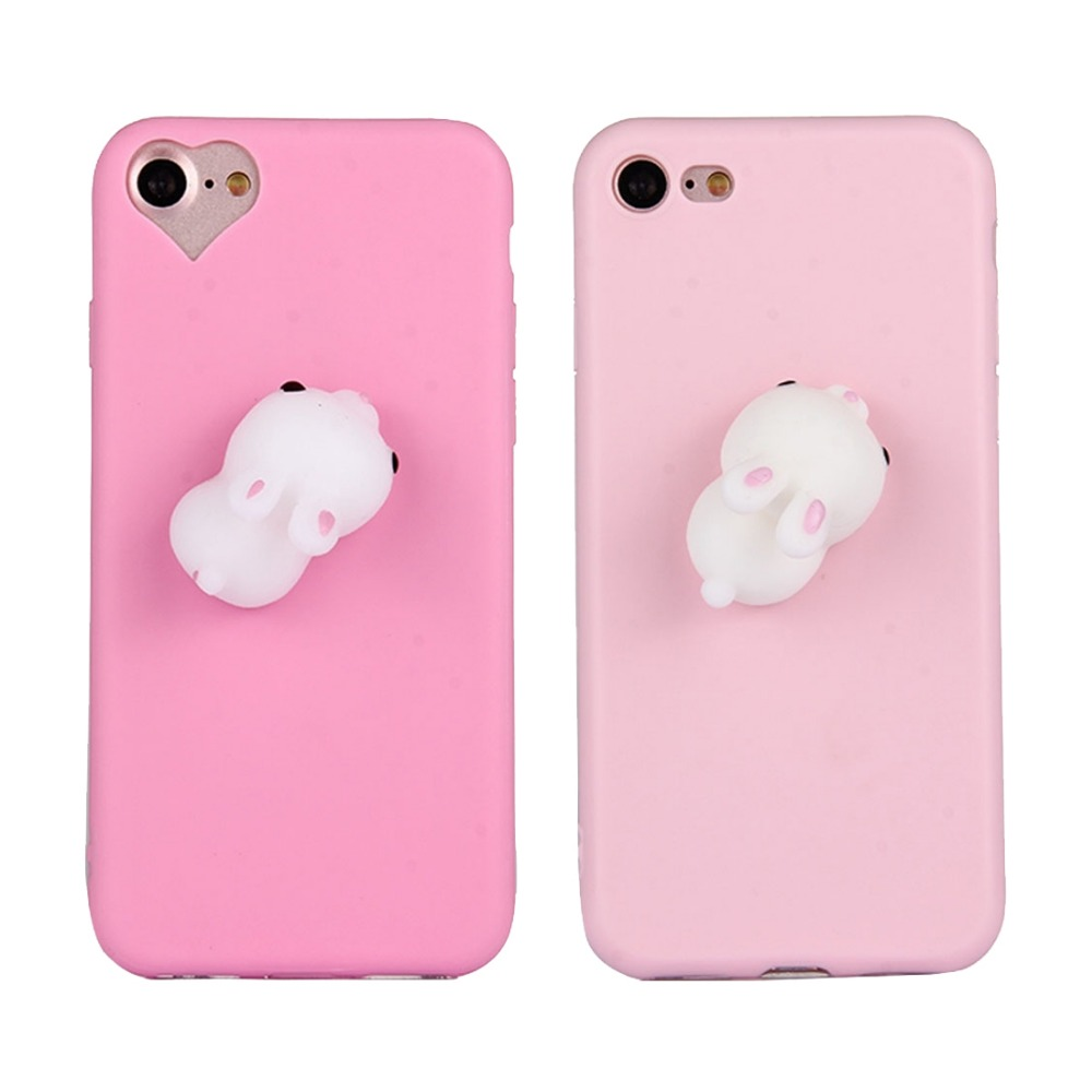 Iphone 6 squishy case - Telefon Case Dla Iphone 7 Plus Kawaii Squishy 3d Kr Lik Squeeze Ulga Squishy Mi Kkiego Silikonu Back