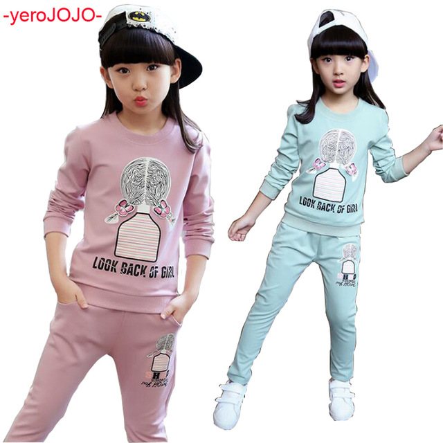 Baby Girls Clothing Sets 2018 Spring Girls Casual Wear Kids Sportswear 2Pcs  Suits Children s Tracksuits Kids Clothes Sports Suit facc848bb