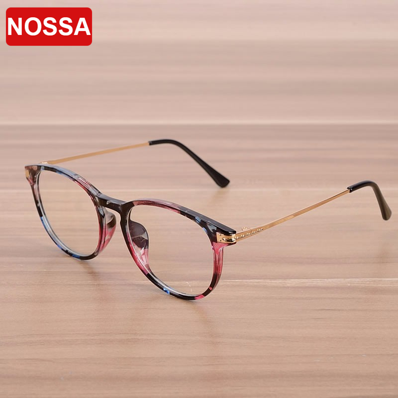 NOSSA Clear Lens Fashion Goggles Women's Myopia Glasses Frame Men's Prescription Eyewear Frames Vintage Spectacle Frame