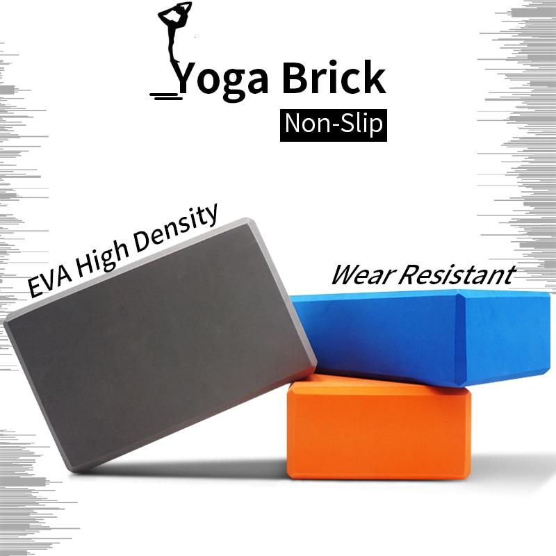 High Quality Pilates EVA Yoga Block Brick Sports Exercise Gym Foam Workout Stretching Aid Body Shaping Health Training For Women