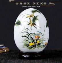 Pottery and porcelain vase flower arrangement small handicraft