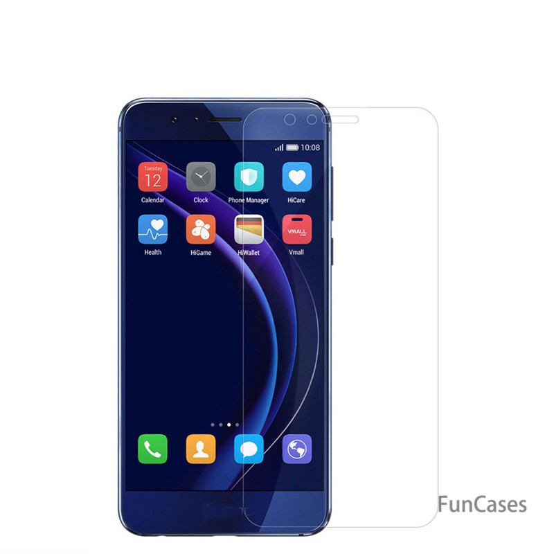 Tempered Glass for Huawei Honor 10 9 9 Lite 8 8Lite 7 V8 V10 Screen Protector Clear Phone Front Protect Glass Protective Film image